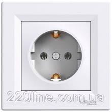 Розетка с заземлением Schneider Electric Asfora Белый EPH2900121