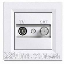 Розетка телевизионная + спутник проходная Schneider Electric Asfora Белый EPH3400321
