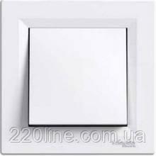 Выключатель одноклавишный Schneider Electric Asfora Белый EPH0100121