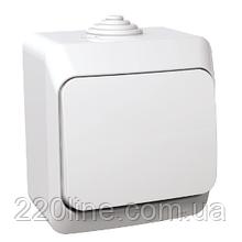 Выключатель Schneider-Electric Cedar Plus 1-клавишный IP44 16А белый, WDE000510