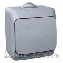 Выключатель Schneider-Electric Cedar Plus 1-клавишный IP44 16А серый, WDE000610