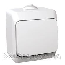Переключатель проходной Schneider-Electric Cedar Plus 1-клавишный IP44 16А белый, WDE000560