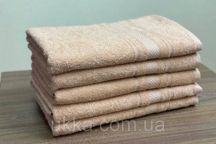 Кухонное махровое полотенце 40х70 Беж 100% хлопок Узбекистан