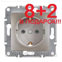 АКЦИЯ!!! (8+2 В ПОДАРОК) Розетка с заземлением Schneider Electric Asfora Бронза EPH2900169*10
