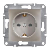 Розетка с заземлением Schneider Electric Asfora Бронза EPH2900169