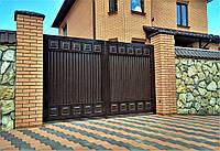 Въездные распашные ворота TM Hardwick ш3000 в2000 мм (дизайн Премиум), фото 1