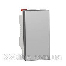 Перемикач 1-клавішний схема 6, 10А, 1 модуль алюміній UNICA NEW NU310330