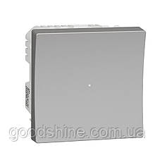 Wiser Універсальний кнопковий димер для LED ламп алюміній UNICA NEW NU351530