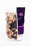 Суміш горіхів з родзинками Gavra (волоський горіх, фундук, мигдаль, сині родзинки), 200г, фото 2