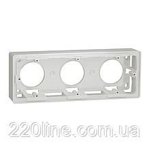 Коробка для відкритого встановлення 3-пости білий,NU800618