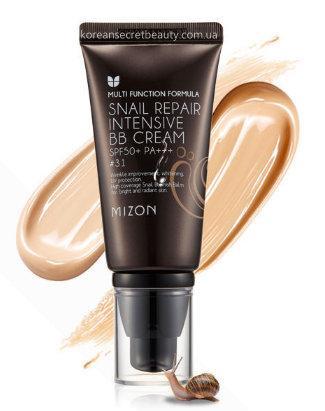 Зволожуючий BB-крем з равликовим секретом Mizon Snail Repair Intensive cream SPF50+ РА +++  31 - Dark Beige