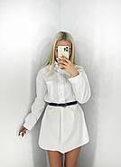 Женское платье-рубашка с длинным рукавом из коттона, 00528 (Белый), Размер 46 (L), фото 2
