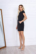 Стильне коротке плаття по фігурі з кишенями, 00671 (Чорний), Розмір 44 (M), фото 2