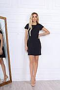 Стильне коротке плаття по фігурі з кишенями, 00671 (Чорний), Розмір 44 (M), фото 3