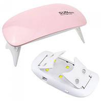 Уф лампа для гель-лака SUN mini UV и LED, сушка для ногтей мини Розовая