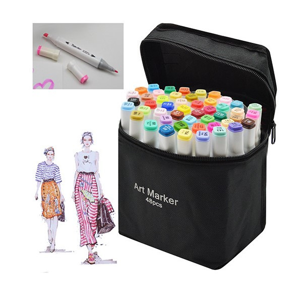 Маркеры для скетчинга Touch Coco 48 цветов для рисования и скетчинга на спиртовой основе в чехле