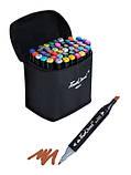 Маркеры для скетчинга Touch Coco 48 цветов для рисования и скетчинга на спиртовой основе в чехле, фото 4