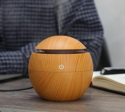 Міні-зволожувач повітря з підсвічуванням і зарядкою від USB Humidifier світло коричневий