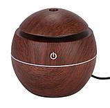 Міні-зволожувач повітря з підсвічуванням і зарядкою від USB Humidifier світло коричневий, фото 5