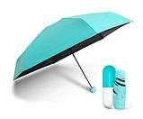 Компактный зонт капсула / Мини зонтик в капсуле / Маленький складной зонт в футляре, чехле Желтый, фото 3
