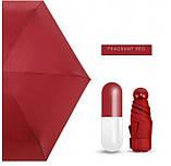 Компактный зонт капсула / Мини зонтик в капсуле / Маленький складной зонт в футляре, чехле Желтый, фото 4