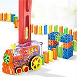 Развивающая игрушка паровозик домино DOMINO Happy Truck 100 деталей / Поезд домино, фото 3