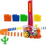 Развивающая игрушка паровозик домино DOMINO Happy Truck 100 деталей / Поезд домино, фото 8