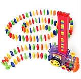 Развивающая игрушка паровозик домино DOMINO Happy Truck 100 деталей / Поезд домино, фото 5