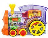 Развивающая игрушка паровозик домино DOMINO Happy Truck 100 деталей / Поезд домино, фото 6