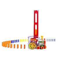 Настольная игрушка паровозик домино DOMINO Happy Truck 100 деталей / Поезд домино