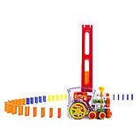 Розвиваюча іграшка паровозик доміно DOMINO Happy Truck 100 деталей / Поїзд доміно, фото 2