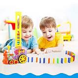 Розвиваюча іграшка паровозик доміно DOMINO Happy Truck 100 деталей / Поїзд доміно, фото 3