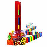 Розвиваюча іграшка паровозик доміно DOMINO Happy Truck 100 деталей / Поїзд доміно, фото 7