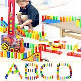 Розвиваюча іграшка паровозик доміно DOMINO Happy Truck 100 деталей / Поїзд доміно, фото 9