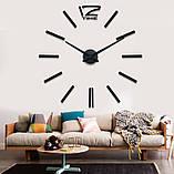 Большие настенные 3Д часы 3D часы DIY Clock 60-120 см (Черные), фото 2