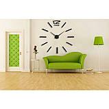 Большие настенные 3Д часы 3D часы DIY Clock 60-120 см (Черные), фото 4