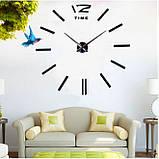 Большие настенные 3Д часы 3D часы DIY Clock 60-120 см (Черные), фото 5