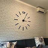 Большие настенные 3Д часы 3D часы DIY Clock 60-120 см (Черные), фото 7