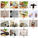 Большие настенные 3Д часы 3D часы DIY Clock 60-120 см (Черные), фото 10