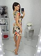 Класичне літнє жіноче плаття з короткими рукавами рюш, 00693 (Зелений), Розмір 46 (L), фото 3