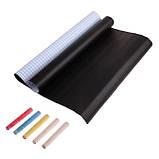 Самоклеюча дошка для малювання крейдою стікер, чорна, 200х60 см, 5шт крейди у комплекті, фото 3