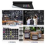 Самоклеюча дошка для малювання крейдою стікер, чорна, 200х60 см, 5шт крейди у комплекті, фото 10