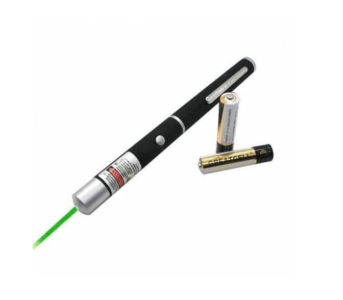 Лазерна Указка Green Laser Pointer потужна, зелений світло. Батарейки в комплекті