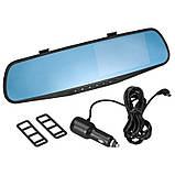 Видеорегистратор-зеркало Car DVR 138E 3,8 с одной камерой, фото 2
