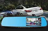 Видеорегистратор зеркало DVR 138 Full HD + камерой заднего вида, фото 5