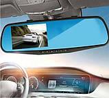 Видеорегистратор зеркало DVR 138 Full HD + камерой заднего вида, фото 6