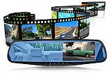 Видеорегистратор зеркало DVR 138 Full HD + камерой заднего вида, фото 7