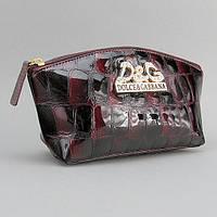 Косметичка кожаная женская клатч Dolce&Gabbana