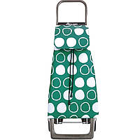 Сумка-тележка (сумка-шоппер на колесах) Rolser Jet Symbol Joy 40л Verde (бирюзовая, легкая/ ролсер) 927685