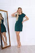 Удобное женское платье прямого кроя на каждый день, 00672 (Бутылочный), Размер 48 (XL), фото 2